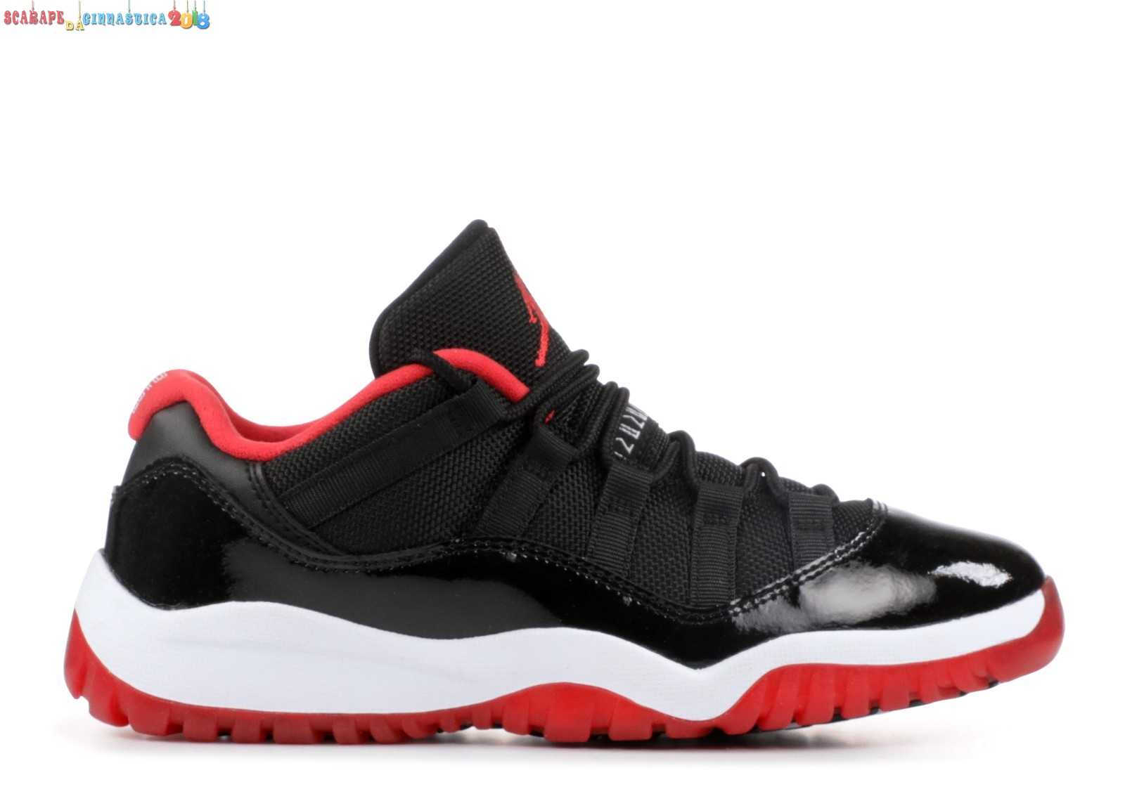 "Replica Air Jordan 11 Low Bp (Ps) ""Bred"" Nero Bianca (505835-012) - SCARPE BASKET"