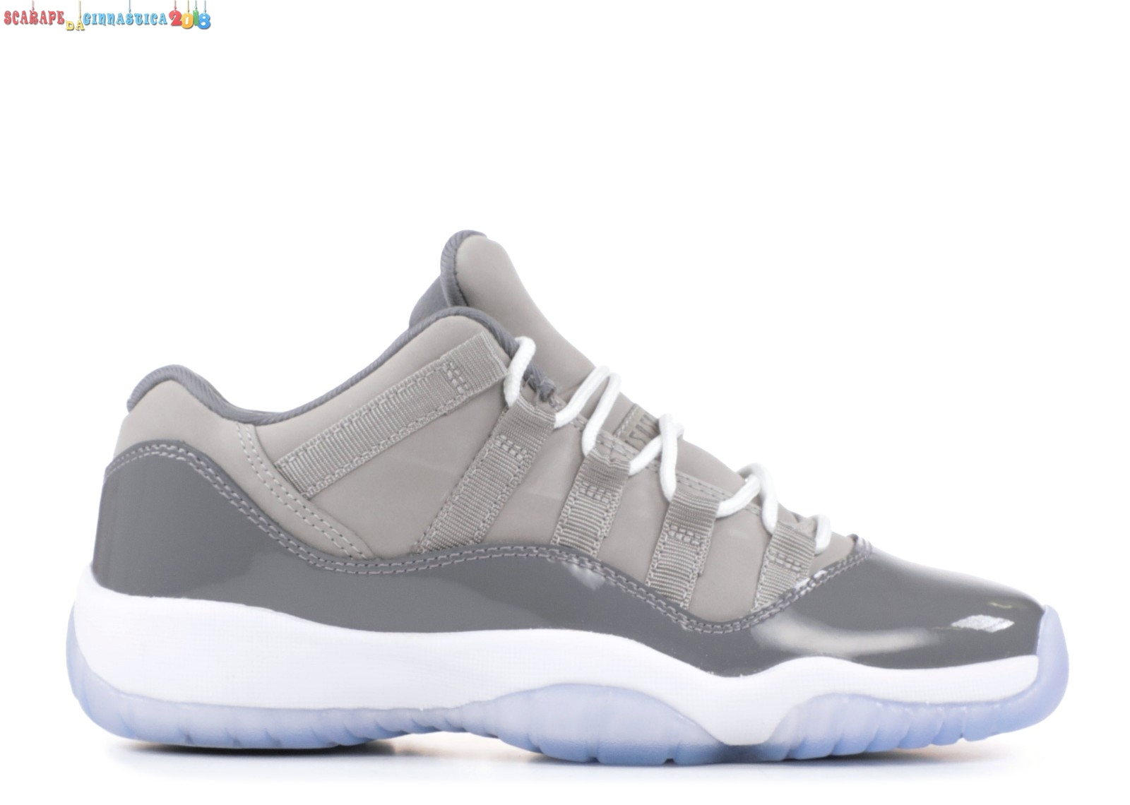 "Replica Air Jordan 11 Retro Low (Gs) ""Cool Gris"" Gris (528896-003) a Poco Prezzo"