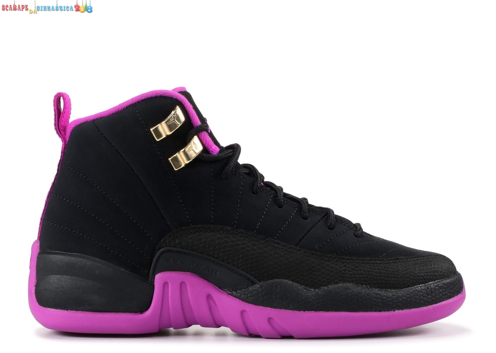 "Replica Air Jordan 12 Retro (Gs) ""Kings"" Nero Rosa (510815-018) Online"