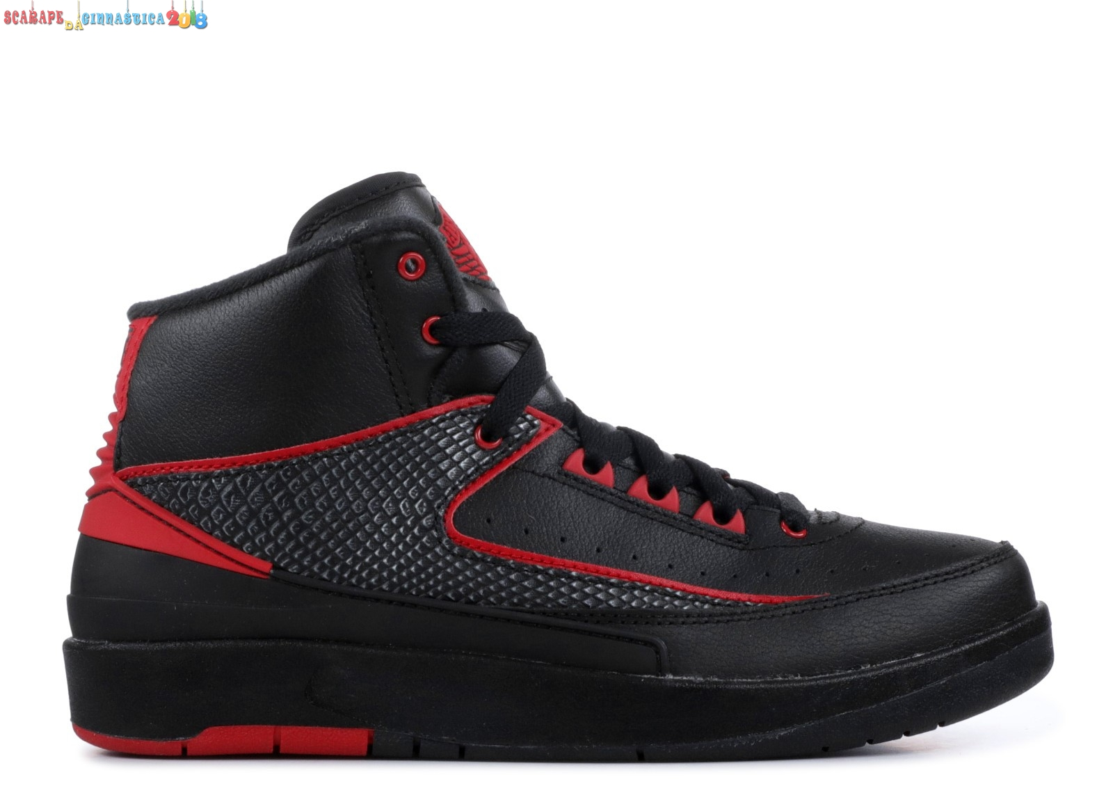 "Replica Air Jordan 2 Retro (Gs) ""Alternate 87"" Nero Rosso (834276-001) - SCARPE BASKET"