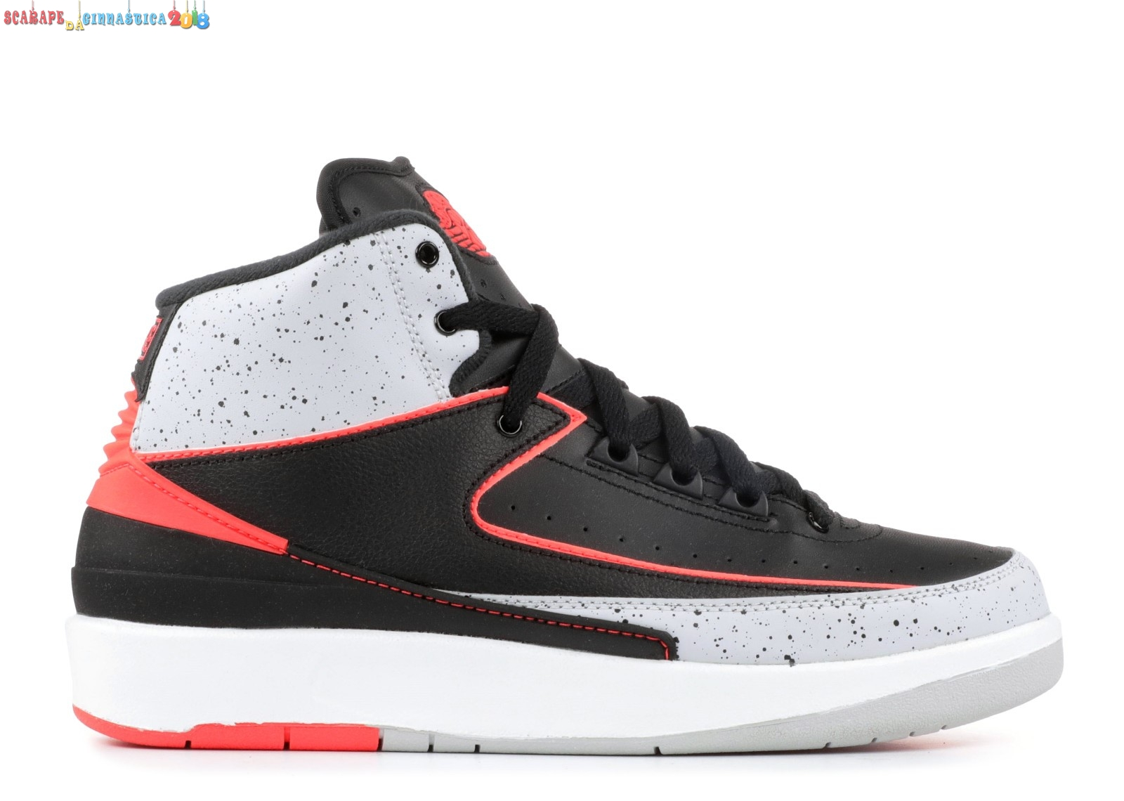"Replica Air Jordan 2 Retro (Gs) ""Infrared 23"" Nero Gris Arancia (395718-023) a Poco Prezzo"
