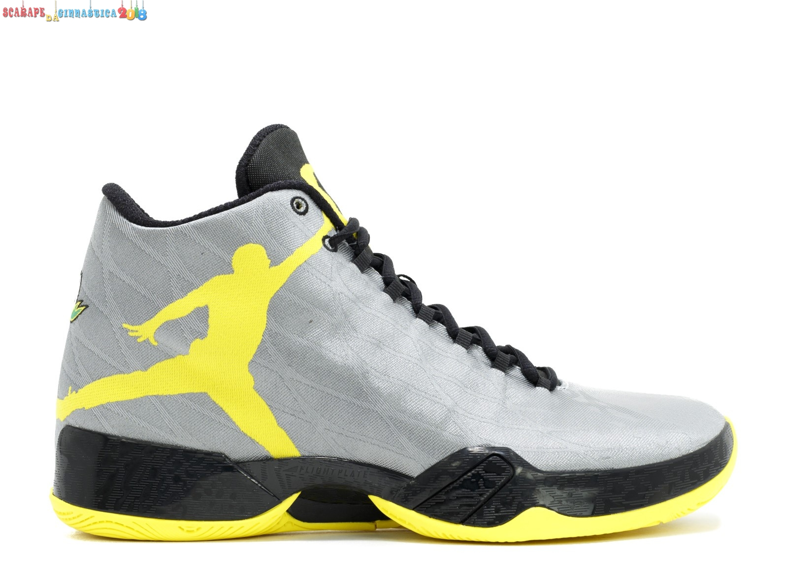"Replica Air Jordan 29 Pe ""Oregon Ducks"" Gris Giallo (fa14mnjdsp183) - Uomo Scarpe sportive"