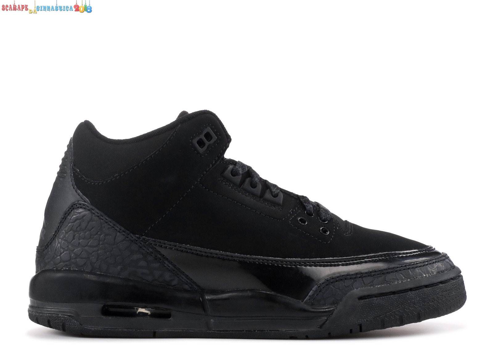 "Replica Air Jordan 3 Retro (Gs) ""Nero Cat"" Nero (834014-002) Scarpe sportive"