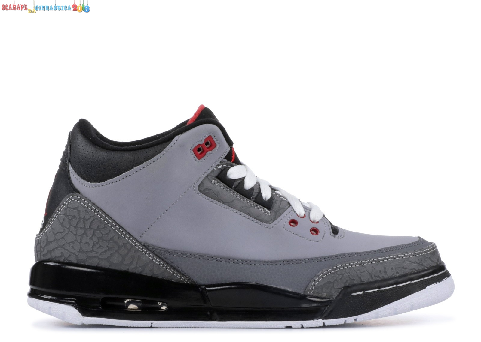 "Replica Air Jordan 3 Retro (Gs) ""Stealth"" Gris (398614-003) - SCARPE BASKET"