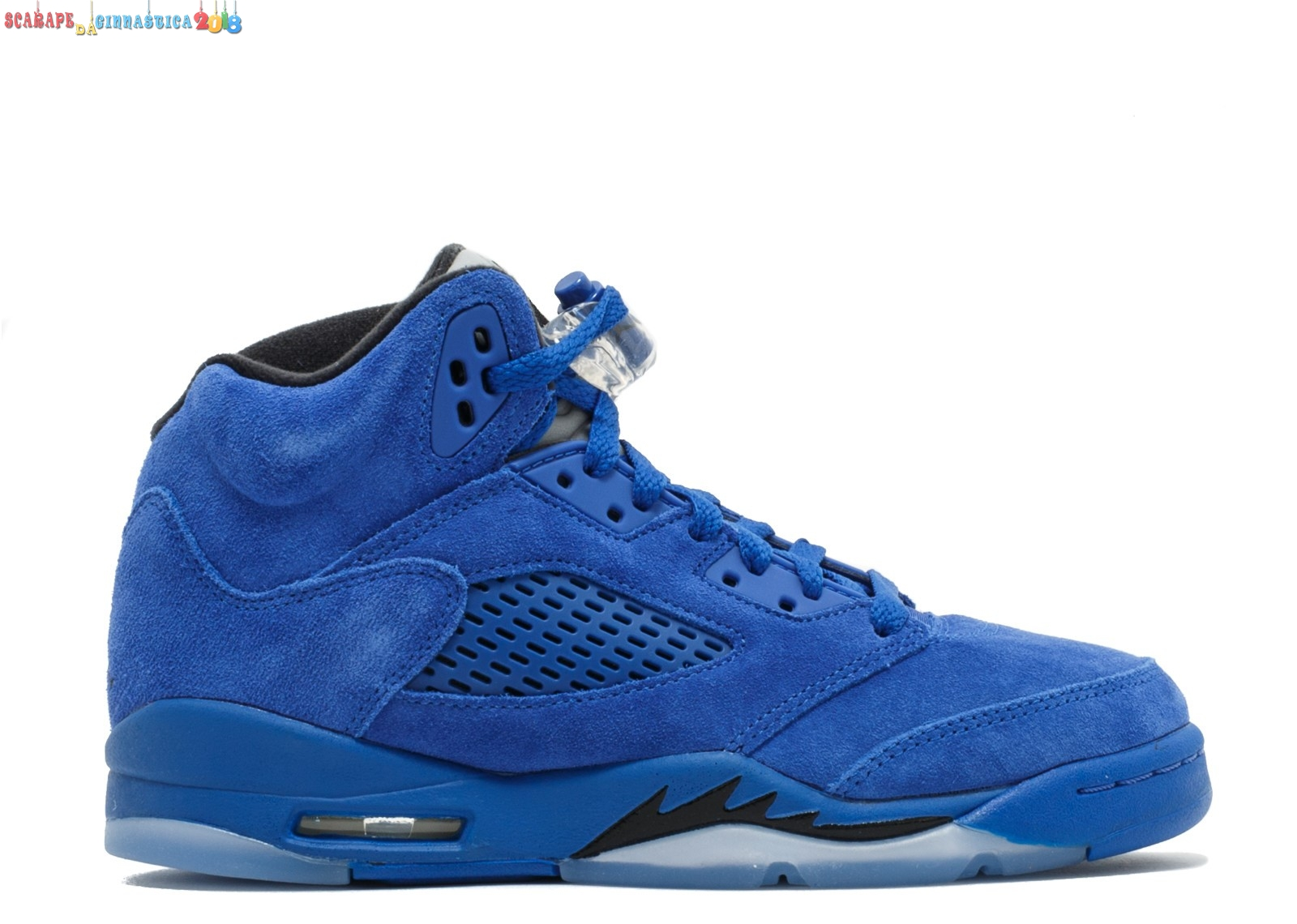 "Replica Air Jordan 5 Retro (Gs) ""Blu Suede"" Blu (440888-401) Online"