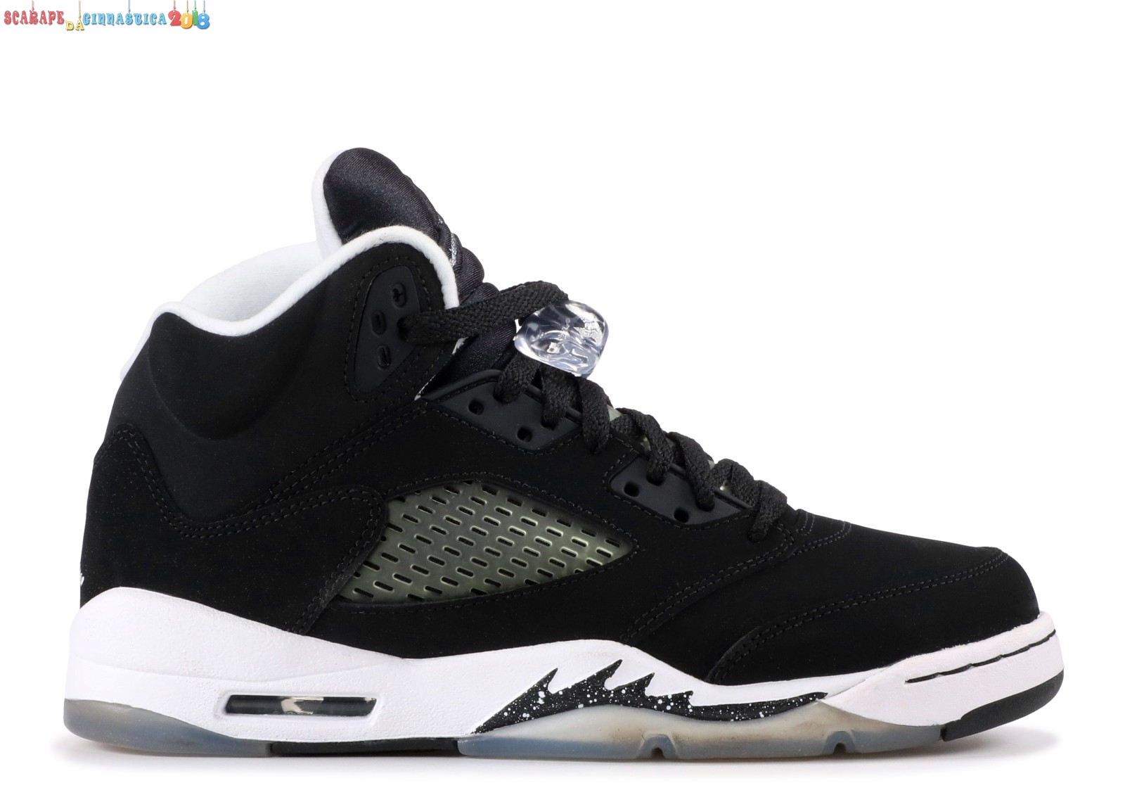 "Replica Air Jordan 5 Retro (Gs) ""Oreo"" Nero Gris (440888-035) - Scarpe da basket"