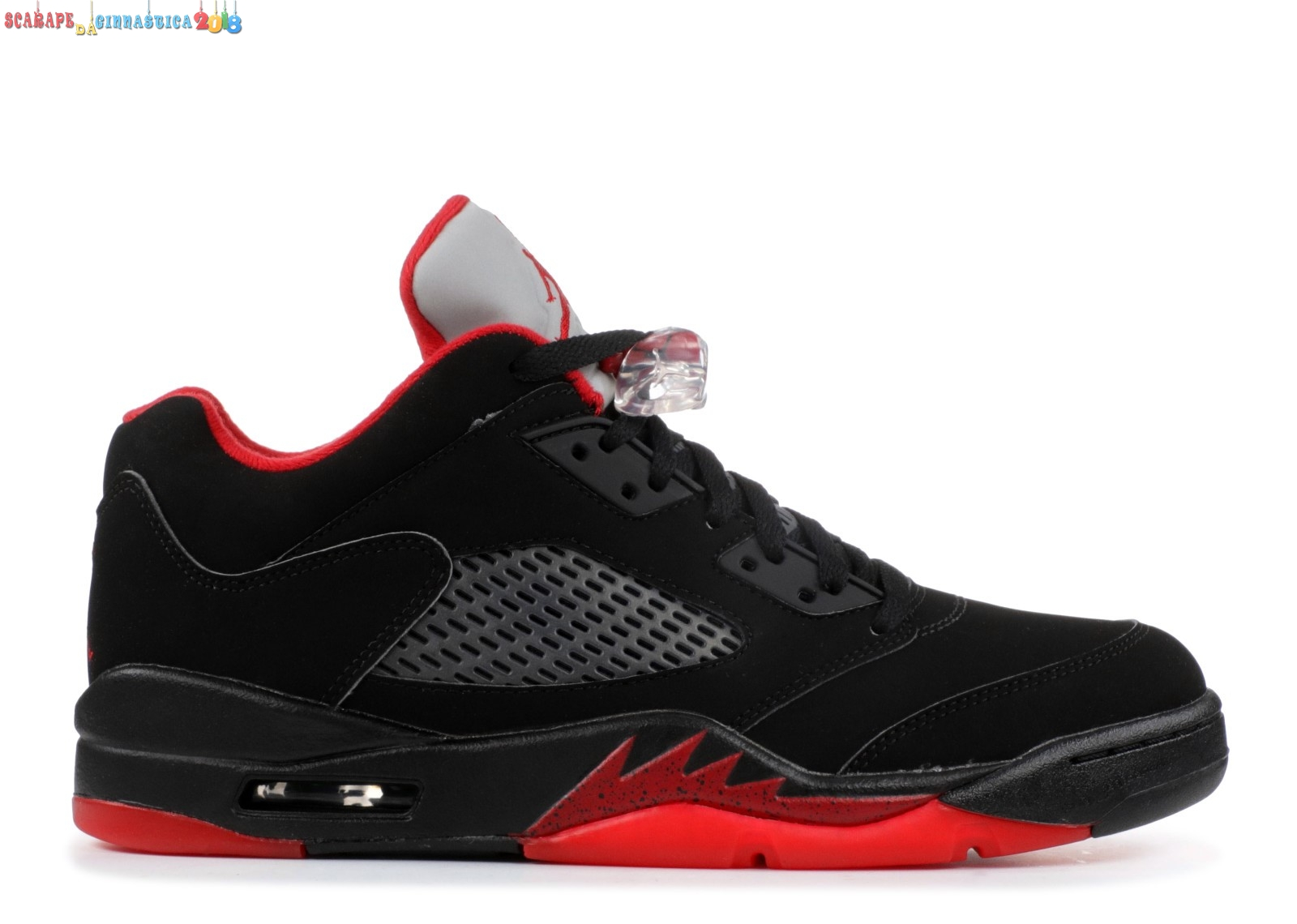 "Replica Air Jordan 5 Retro Low ""Alternate 90"" Nero Rosso (819171-001) - Uomo Online"