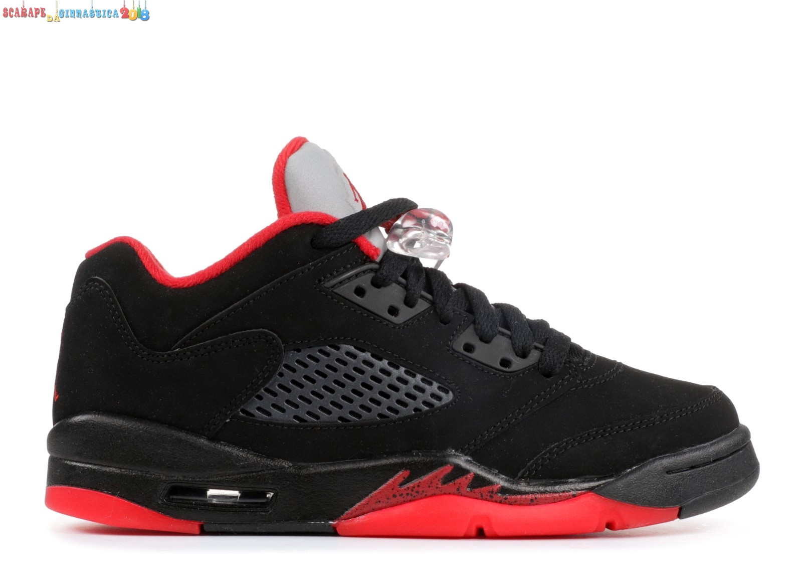 "Replica Air Jordan 5 Retro Low (Gs) ""Alternate 90"" Nero Rosso (314338-001) - Scarpe da basket"