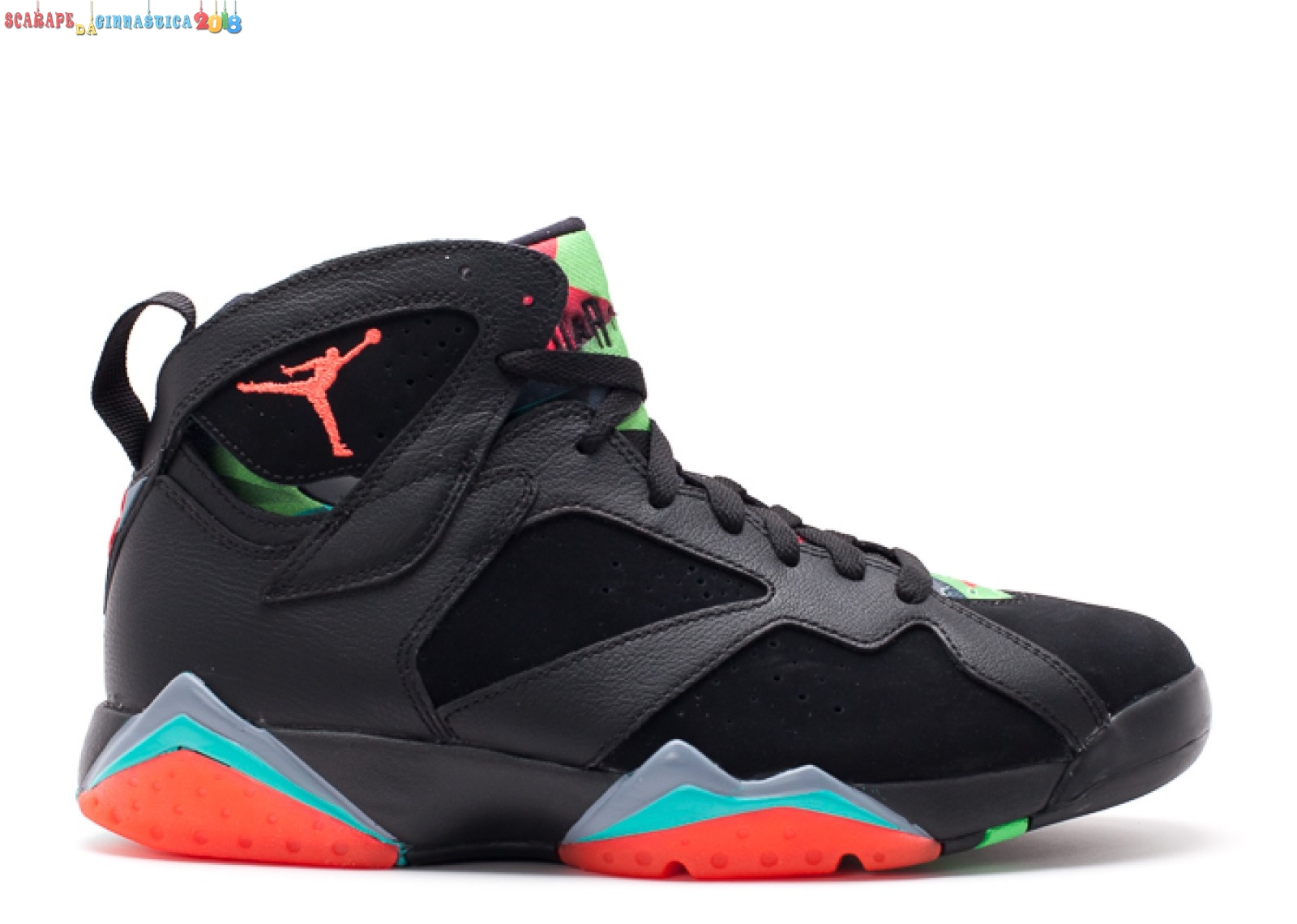 "Replica Air Jordan 7 Retro ""30Th Barcelona Nights"" Nero Arancia (705350-007) - Uomo Scarpe sportive"