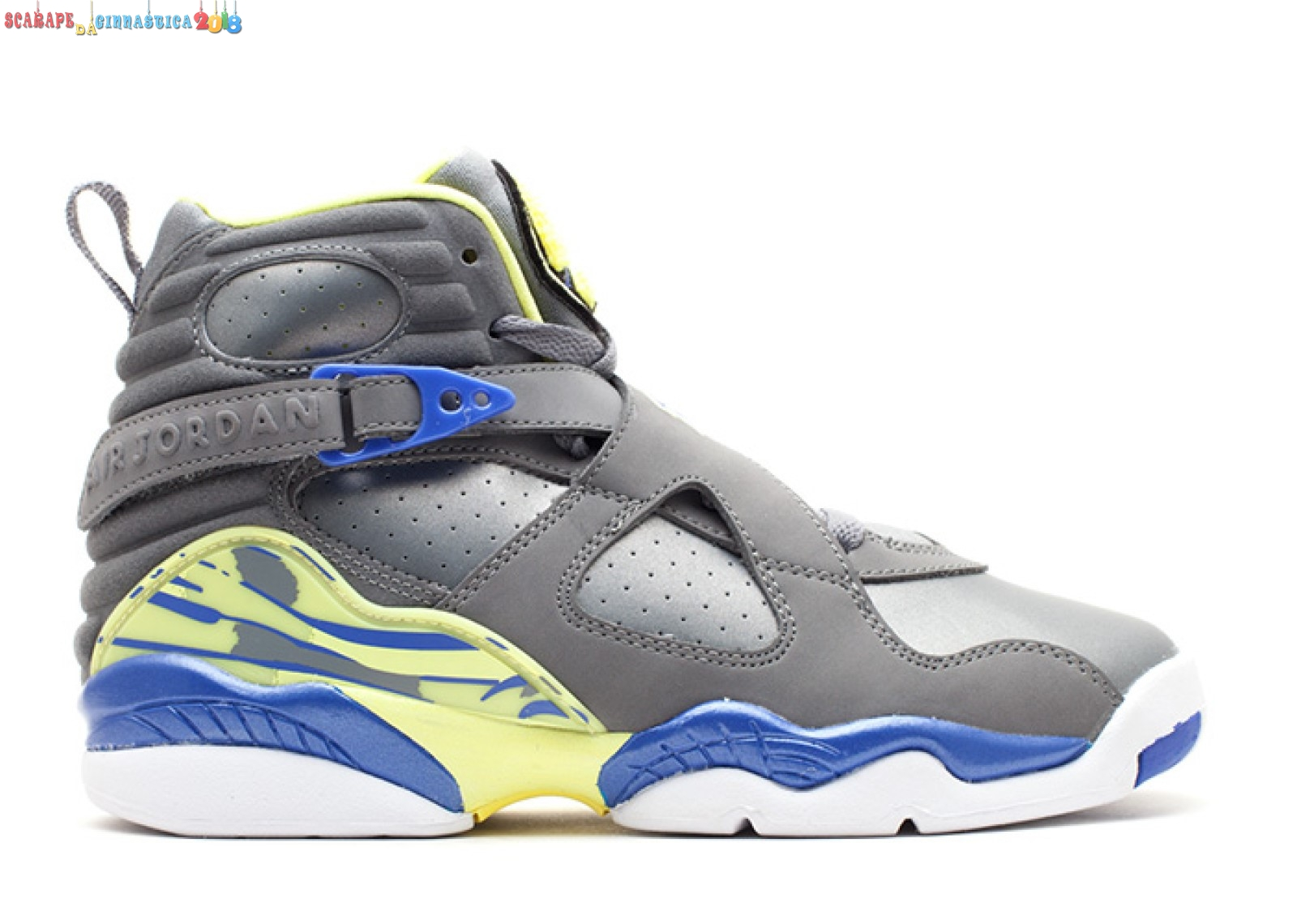 Replica Air Jordan 8 Retro (Gs) Gris Giallo (580528-038) Scarpe sportive