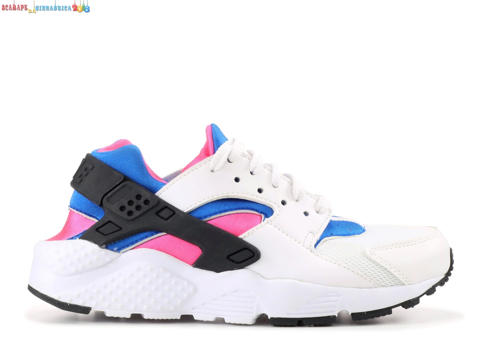 Replica Nike Air Huarache Run (Gs) Bianca Nero Rosa (654275-104) Online