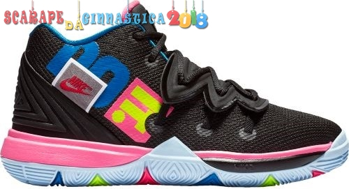 "Replica Nike Kyrie Irving V 5 ""Just Do It"" (Gs) Nero Rosa Blu (aq2456-003) Scarpe sportive"