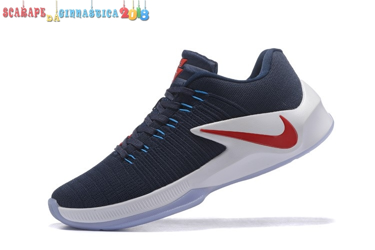 Replica Nike Zoom Clear Out Low Navy Rosso - Uomo - Scarpe da basket