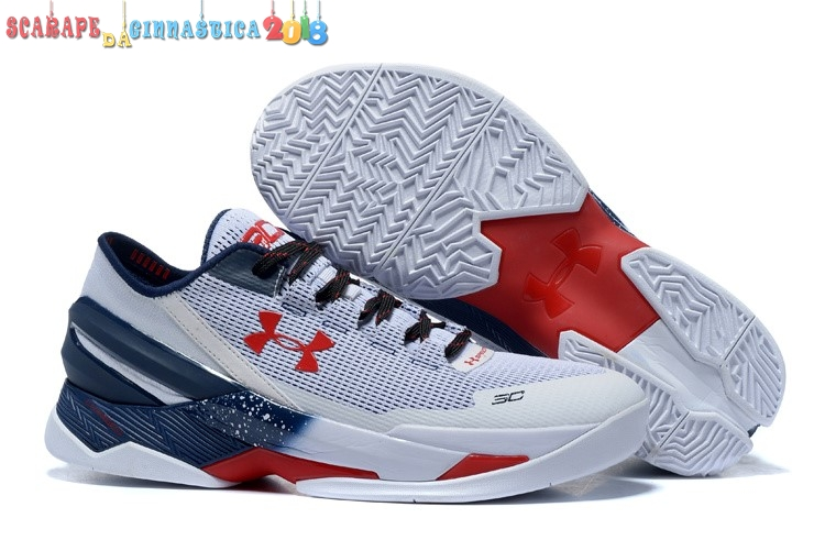"Replica Under Armour Curry 2 Low ""Usa"" Gris - Uomo - Scarpe da basket"