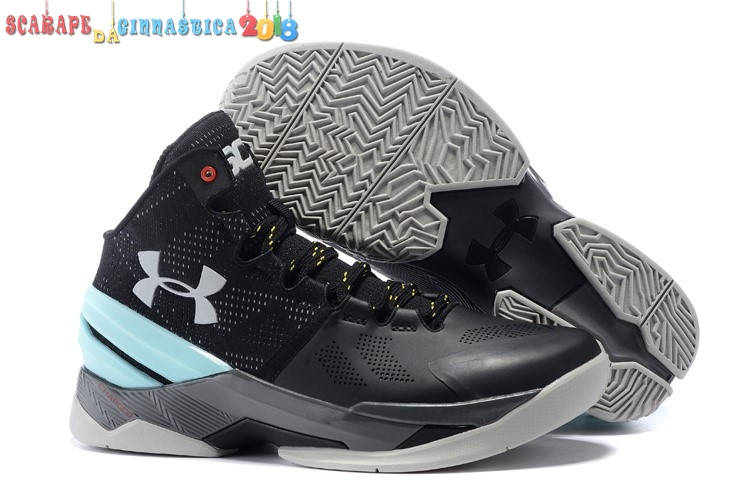 Replica Under Armour Curry 2 Nero Gris Menta - Uomo a Poco Prezzo
