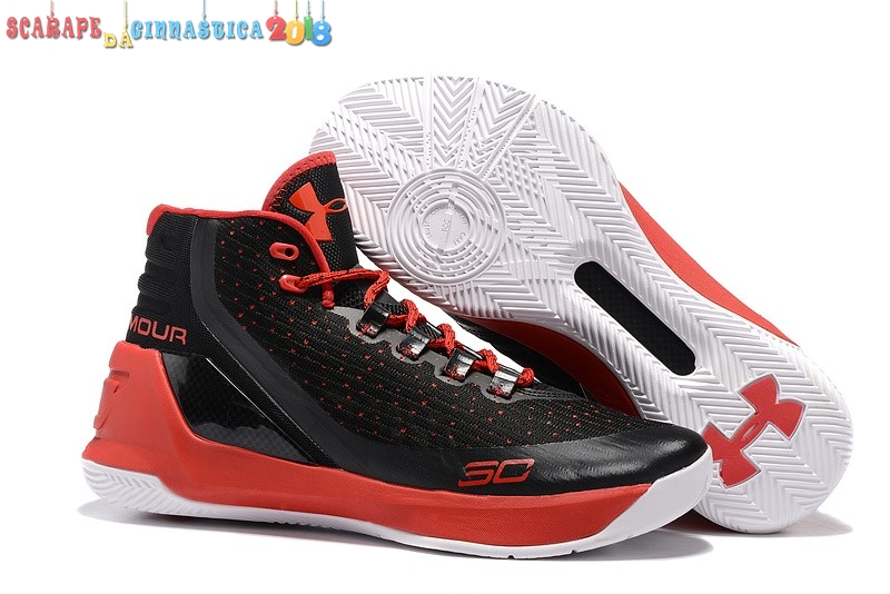 Replica Under Armour Curry 3 Nero Rosso - Uomo - SCARPE BASKET