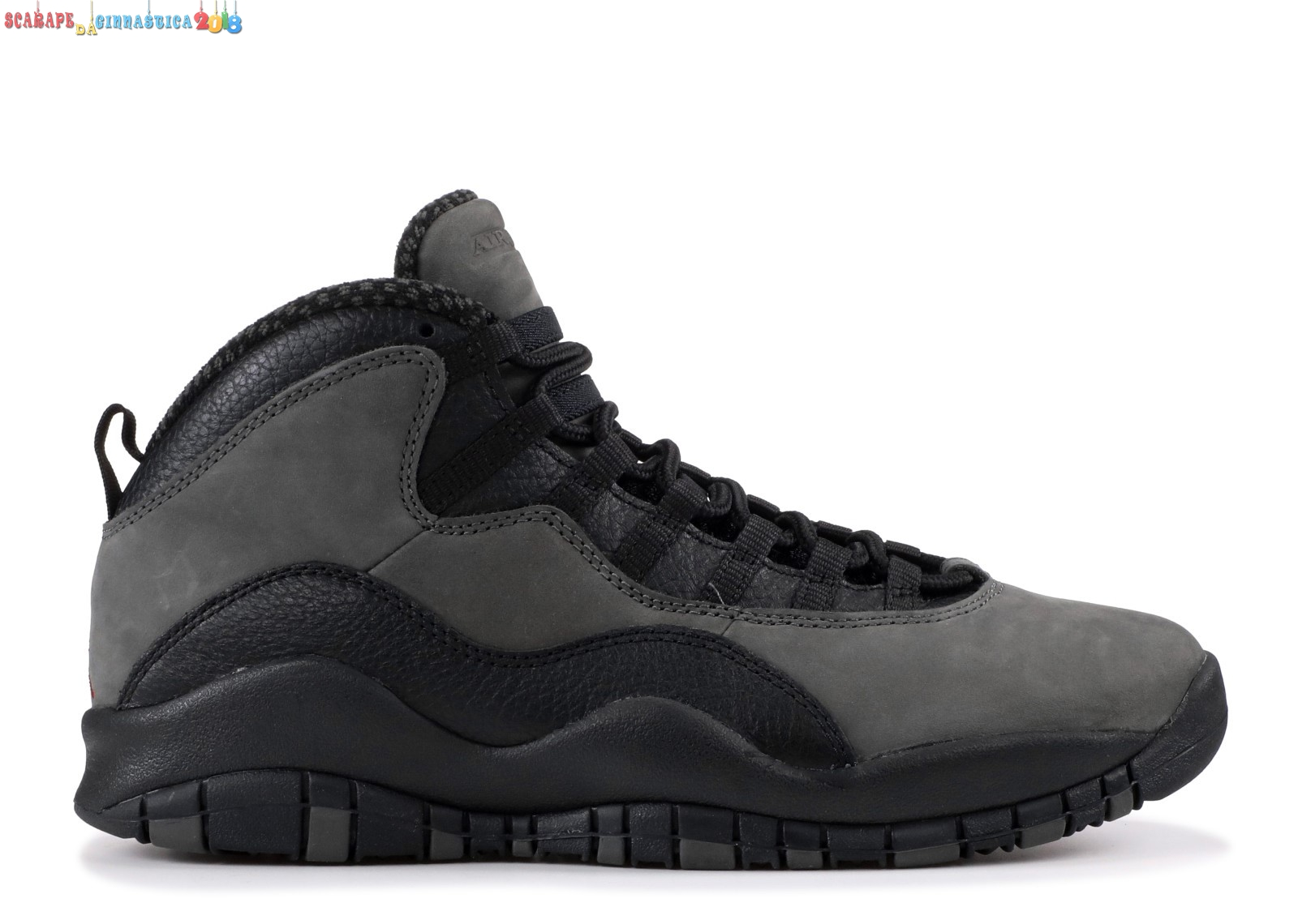 "Scarpa da basket - Air Jordan 10 Retro ""Dark Shadow"" Gris Nero (310806-002) - Uomo Replica"