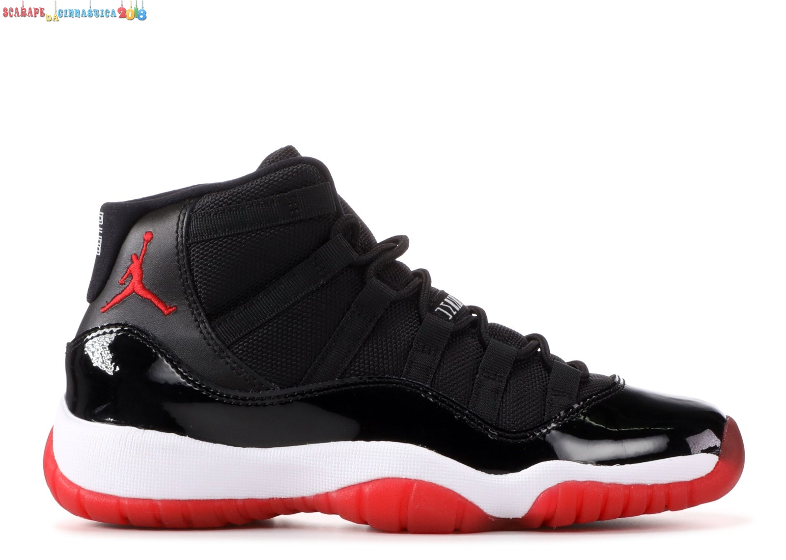 "Scarpa da basket - Air Jordan 11 Retro (Gs) ""2012 Release"" Nero Rosso (378038-010) Replica"