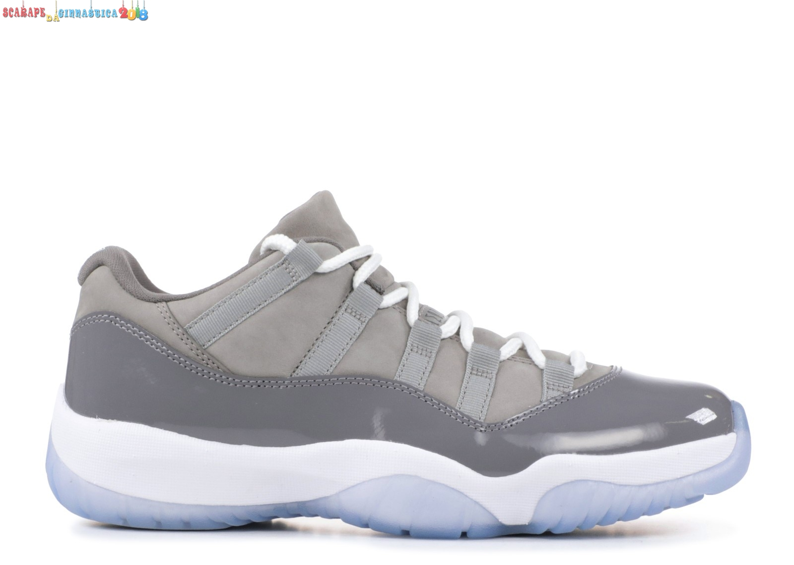 "Scarpa da basket - Air Jordan 11 Retro Low ""Cool Gris"" Gris (528895-003) - Uomo Replica"