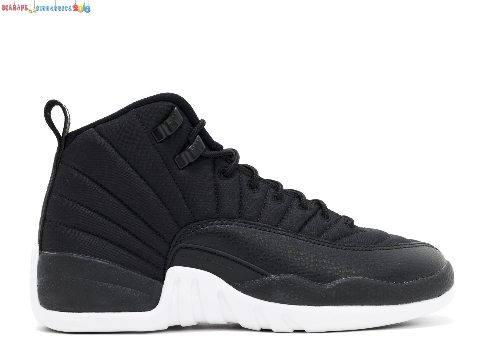 "Scarpa da basket - Air Jordan 12 Retro (Gs) ""Nylon"" Nero (153265-004) a Poco Prezzo"