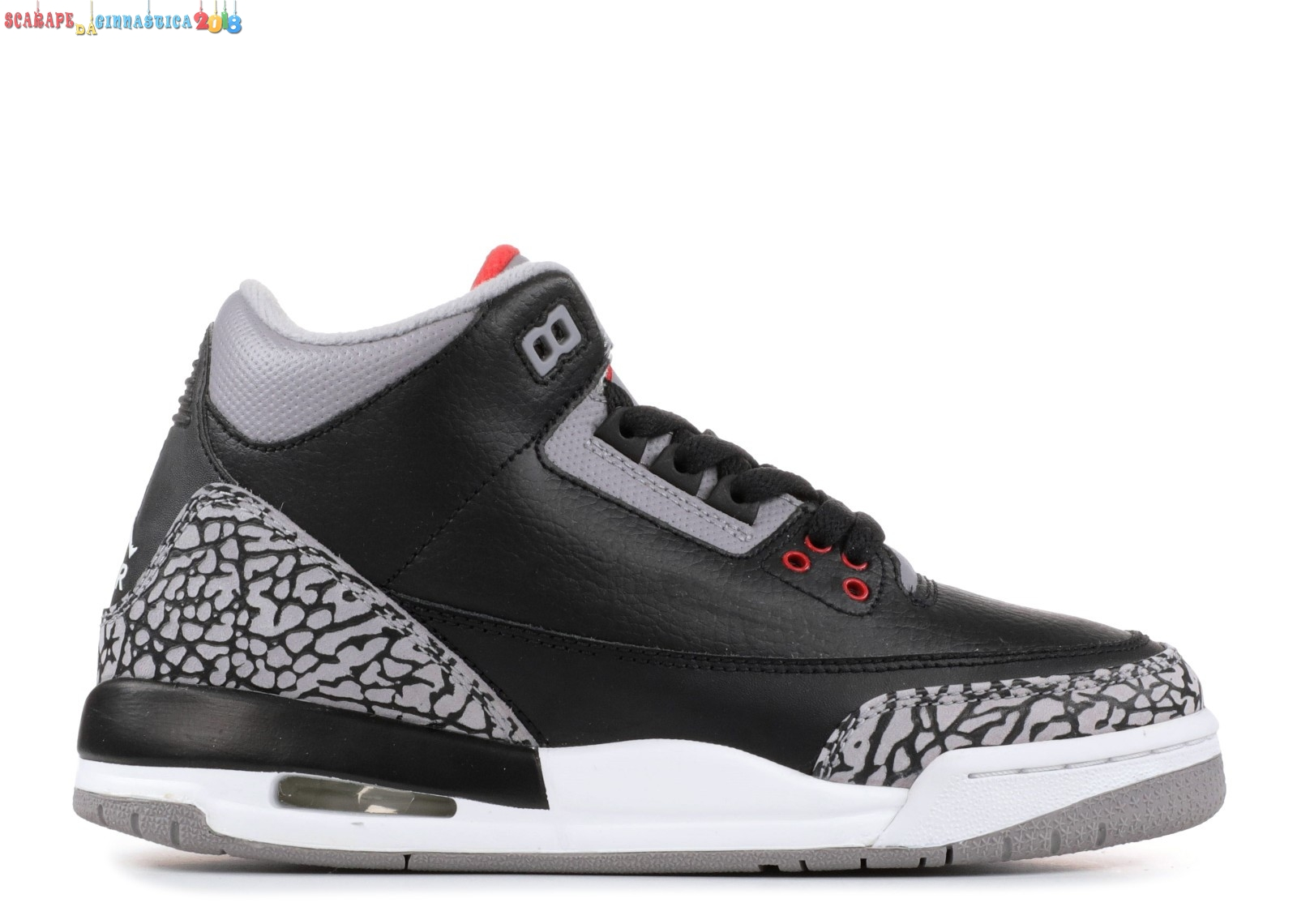 "Scarpa da basket - Air Jordan 3 Retro (Gs) ""Countdown Pack"" Nero Gris (340255-061) - Scarpe da basket"