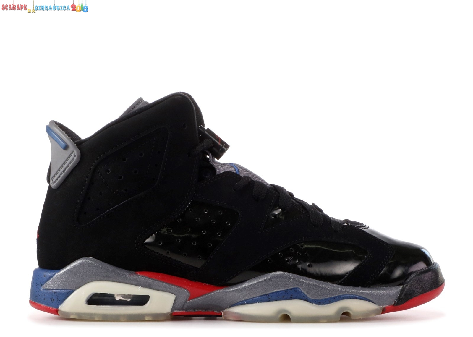 "Scarpa da basket - Air Jordan 6 Retro (Gs) ""Piston"" Nero (384665-001) - scarpe basket migliori"