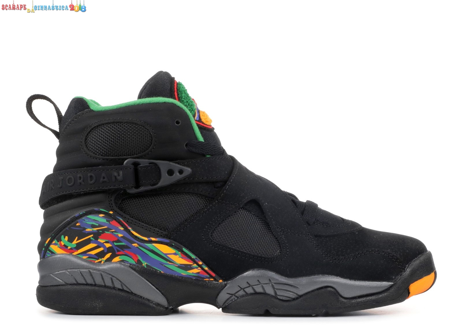 "Scarpa da basket - Air Jordan 8 Retro (Gs) ""Air Raid"" Nero (305368-004) - SCARPE BASKET"