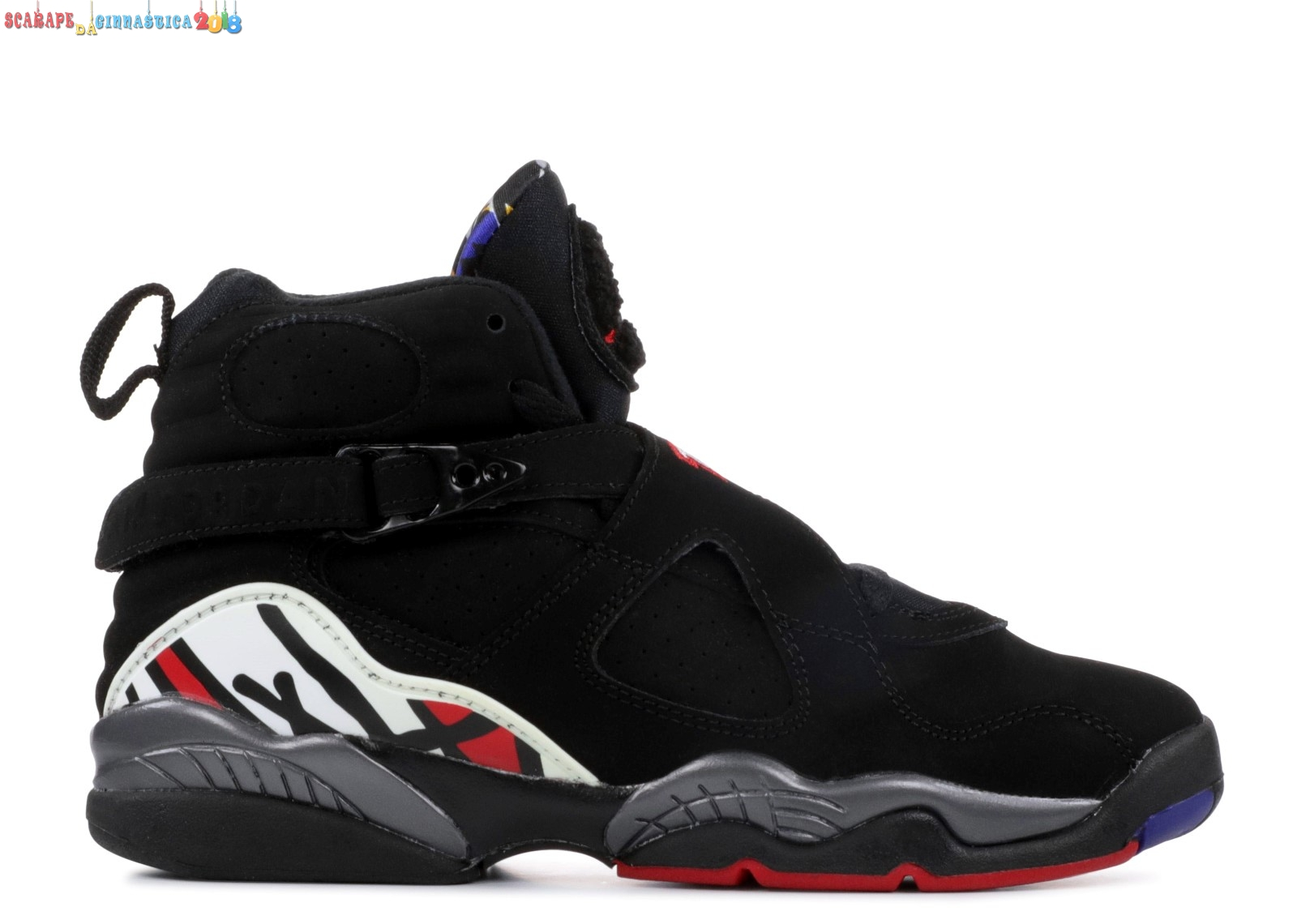 "Scarpa da basket - Air Jordan 8 Retro (Gs) ""Playoffs 2013 Release"" Nero (305368-061a) - scarpe basket migliori"
