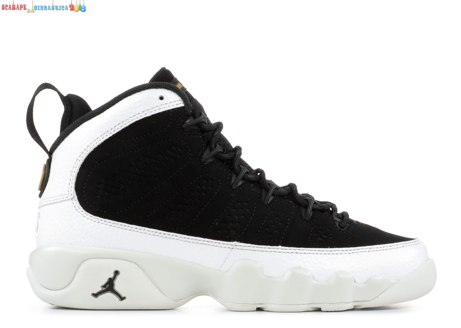"Scarpa da basket - Air Jordan 9 Retro (Gs) ""City Of Flight"" Nero Bianca (302359-021) - Scarpe da basket"