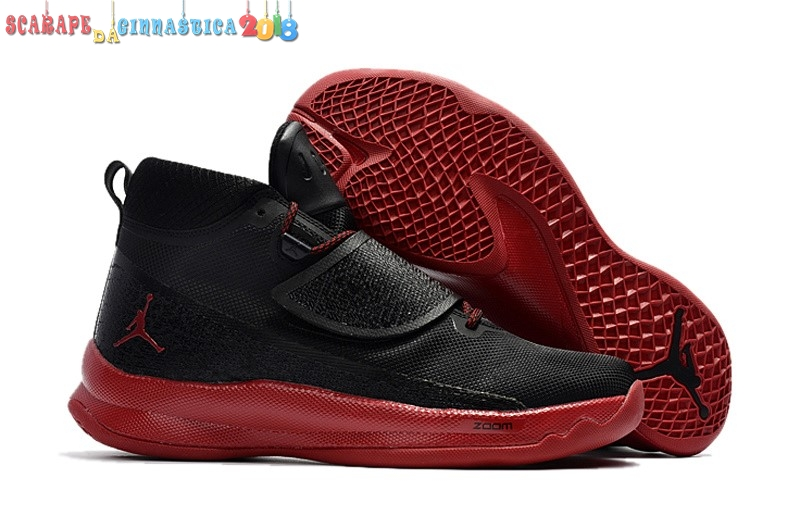 "Scarpa da basket - Air Jordan Super.Fly 5 Po ""Blake Griffin"" Nero Rosso - Uomo Replica"