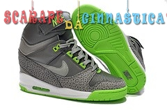 Scarpa da basket - Nike Air Revolution Sky High Gris Verde (599410-002) - Donna Replica