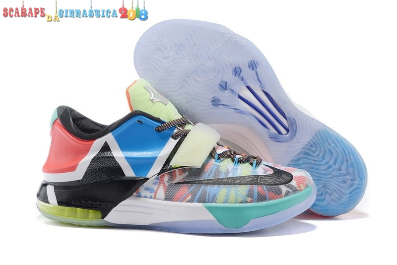 "Scarpa da basket - Nike Kd Vii 7 ""What The"" Multicolore Nero (812329-944) - Uomo Replica"