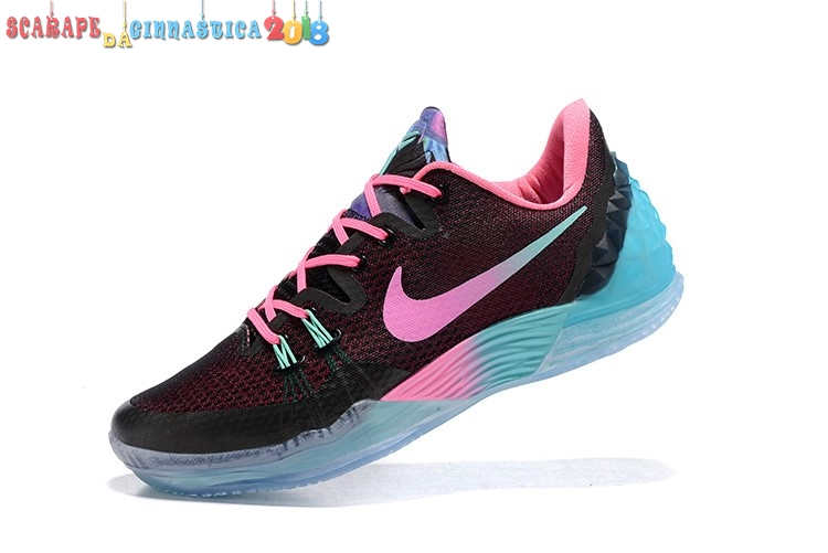 "Scarpa da basket - Nike Kobe Venomenon 5 ""South Beach"" Nero Rosa - Uomo Replica"