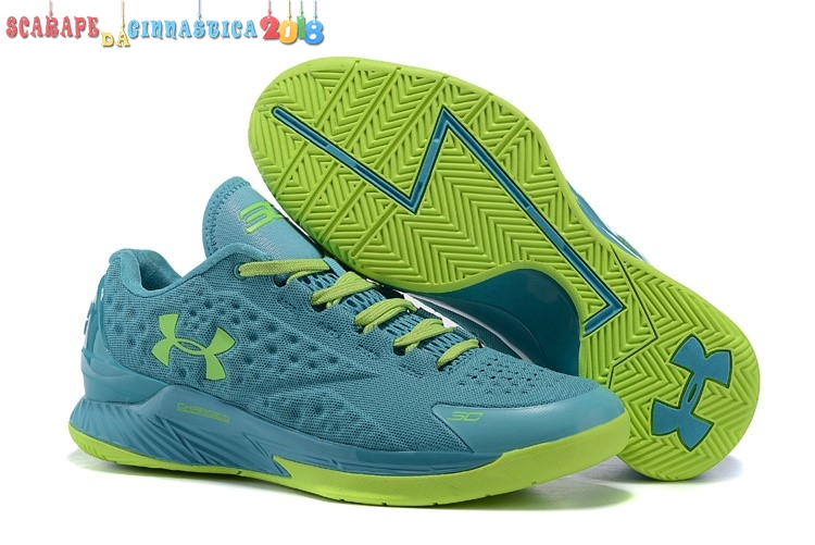 Scarpa da basket - Under Armour Curry 1 Low Verde Volt - Uomo - Scarpe da basket