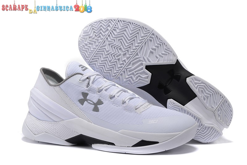 Scarpa da basket - Under Armour Curry 2 Low Bianca - Uomo Replica