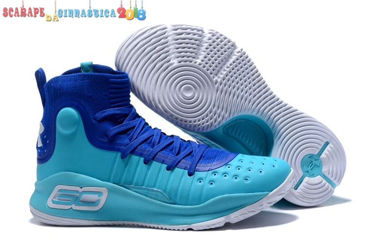 Scarpa da basket - Under Armour Curry 4 Blu - Uomo - SCARPE BASKET