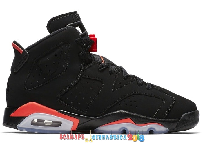 Acquisto Air Jordan 6 (GS) Retro InfraRosso 2019 Nero (384665-060) Replica