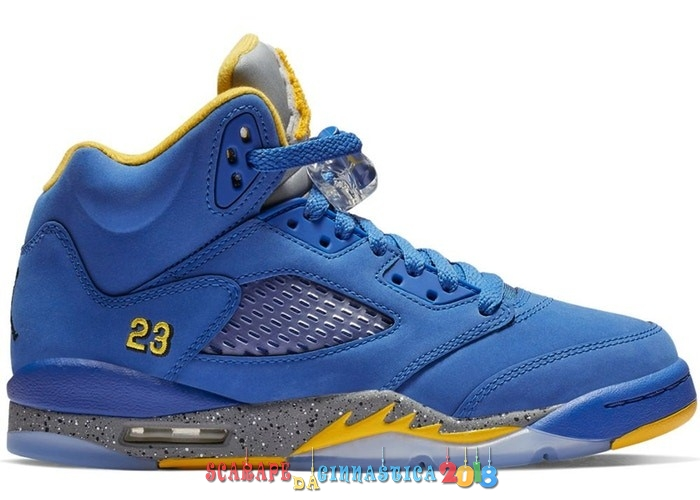 Scarpa da basket - Air Jordan 5 Retro (GS) Laney Blu (CI3287-400) Online