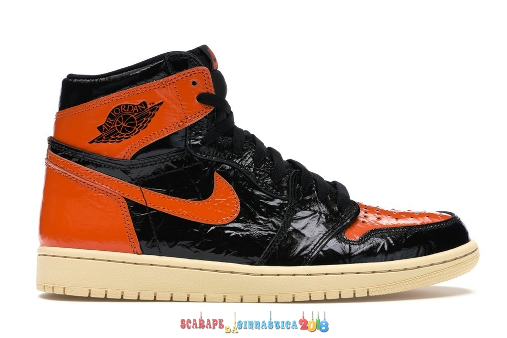 "Acquisto Air Jordan 1 High Retro ""Shattered Backboard 3.0"" Nero Arancia (555088-028) - Uomo - SCARPE BASKET"