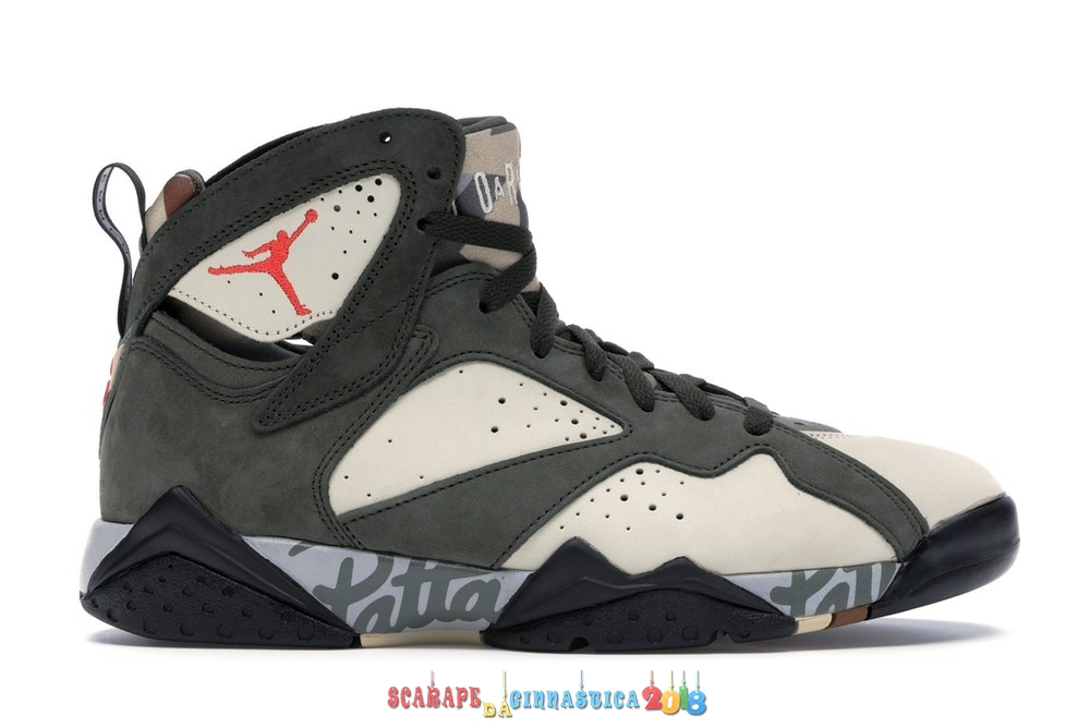 "Acquisto Air Jordan 7 Retro ""Patta Icicle"" Oliva (AT3375-100) - Uomo Online"