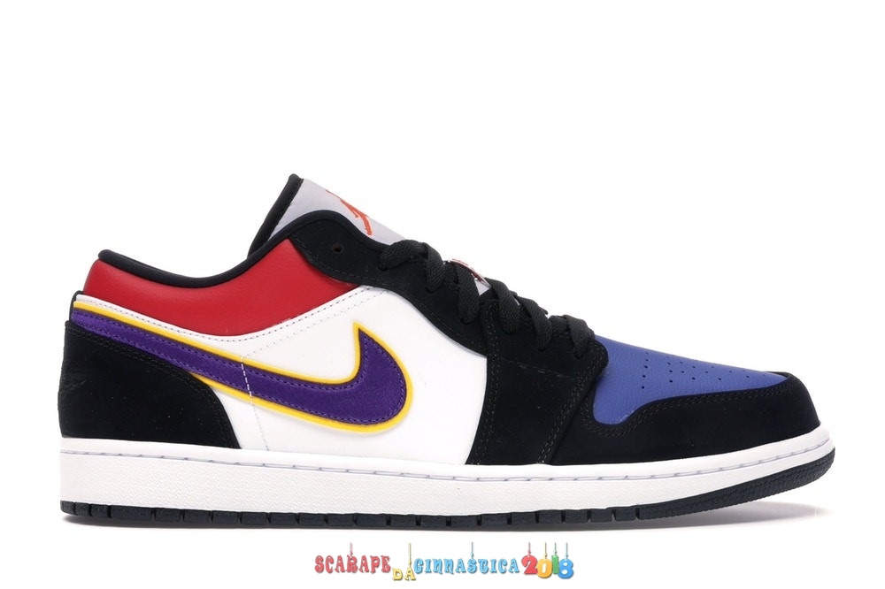 "Buy Air Jordan 1 Low ""Lakers"" Top 3 Nero Porpora (CJ9216-051) - Uomo - SCARPE BASKET"