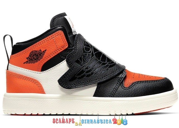 "Buy Sky Air Jordan 1 (PS) ""Shattered Backboard"" Arancia Nero (BQ7197-008) a Poco Prezzo"