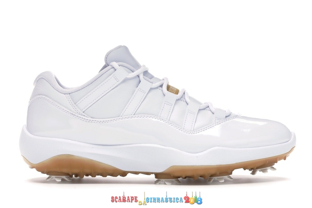"Nuovi Prodotti Air Jordan 11 Low Retro Golf ""Metallic Gold"" Bianca (AQ0963-102) - Uomo Replica"