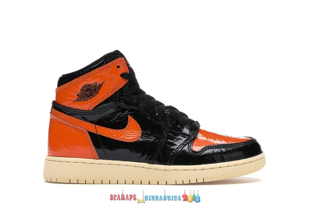 "Replica Air Jordan 1 High Retro (GS) ""Shattered Backboard 3.0"" Nero Arancia (575441-028) Scarpe sportive"
