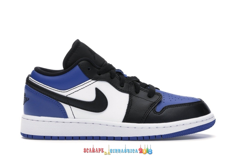 Replica Air Jordan 1 Low (GS) Blu Bianca Nero (CQ9486-400) - SCARPE BASKET