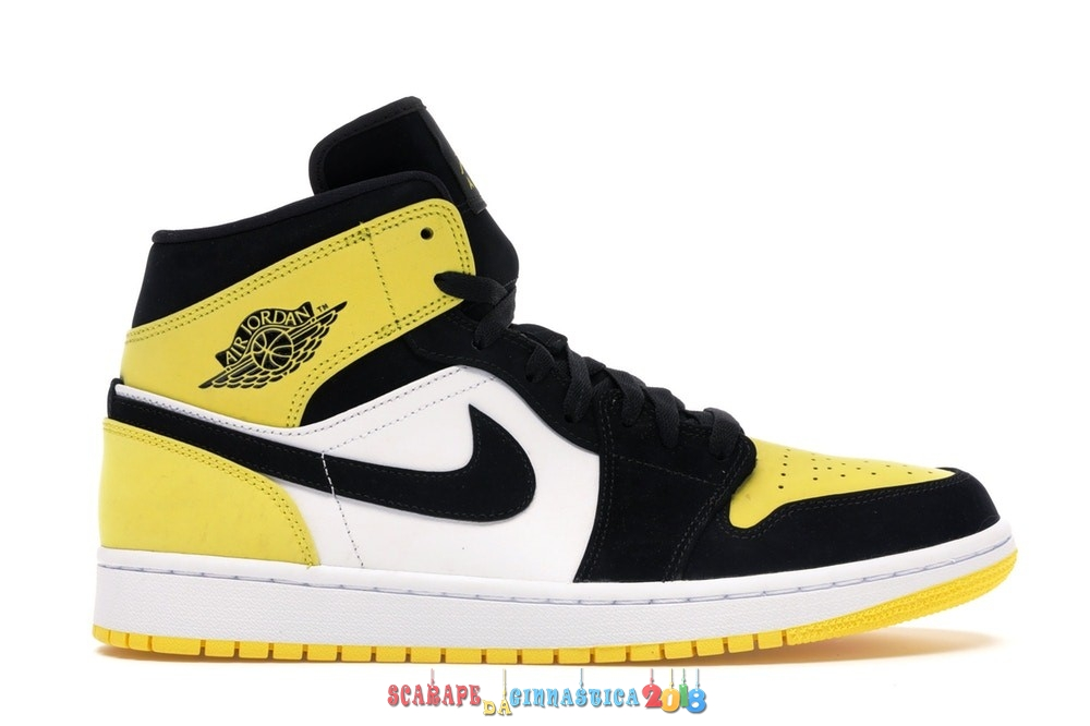 "Replica Air Jordan 1 Mid ""Yellow Toe"" Nero (852542-071) - Uomo Online"
