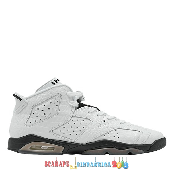 "Replica Air Jordan 6 (GS) Retro ""Alligator"" Bianca (384665-110) - Scarpe da basket"