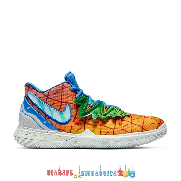"Replica Nike Kyrie Irving V 5 (GS) ""Spongebob Pineapple House"" Arancia (CJ7227-800) - SCARPE BASKET"