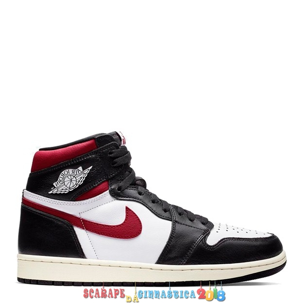 "Scarpa da basket - Air Jordan 1 High Og ""Black Gym Red"" Nero Rosso (555088-061) - Uomo Online"