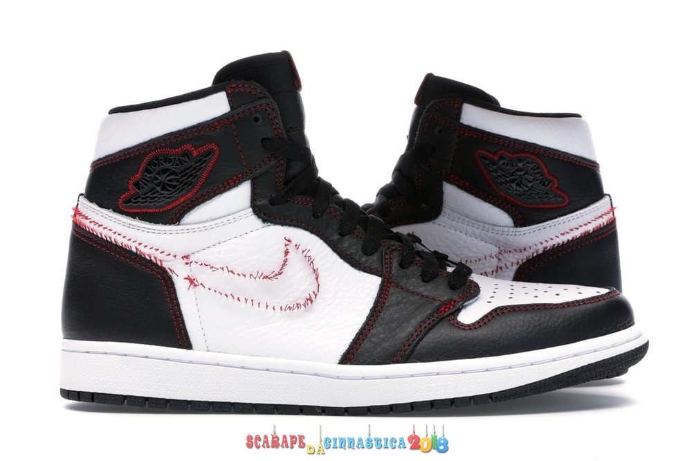 "Scarpa da basket - Air Jordan 1 High Retro ""Defiant"" Bianca Nero Rosso (CD6579-071) - Uomo Replica"